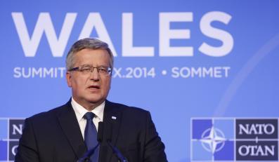 Bronisław Komorowski na szczycie NATO