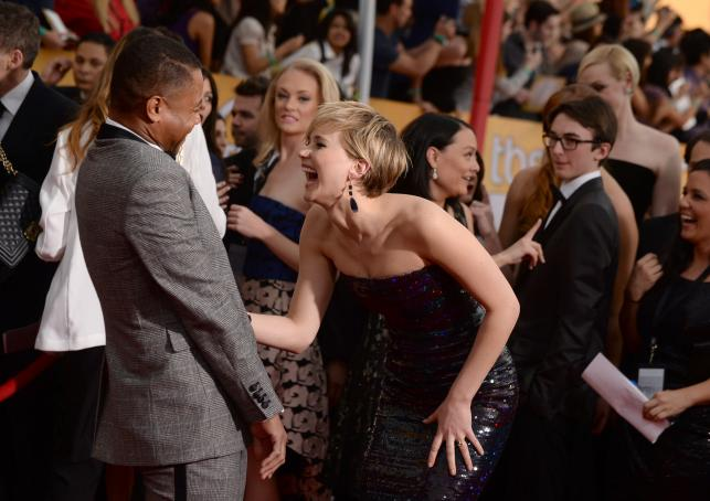 Jennifer Lawrence i Cuba Gooding, Jr.