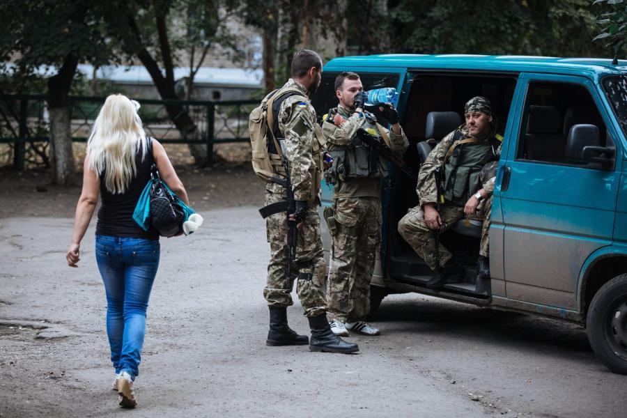 Ukraińskie wojska w Słowiańsku