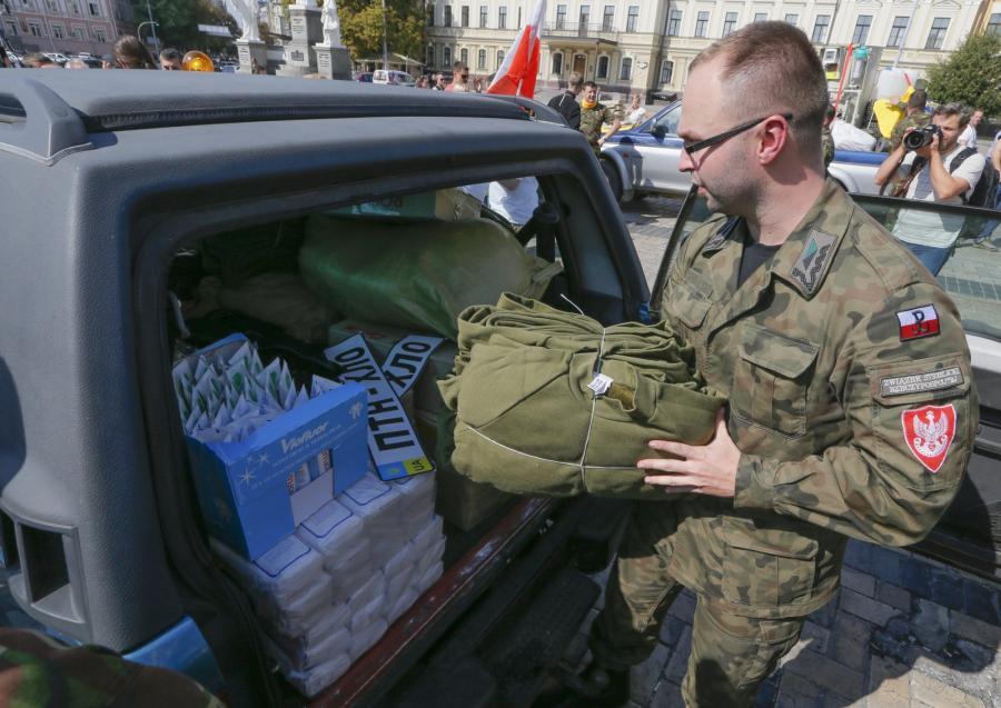 Polski konwój z pomocą dojechał do Kijowa