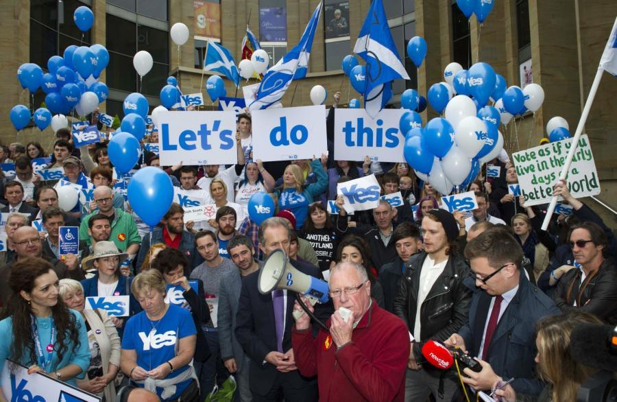 Zwolennicy oderwania się Szkocji od Wielkiej Brytanii