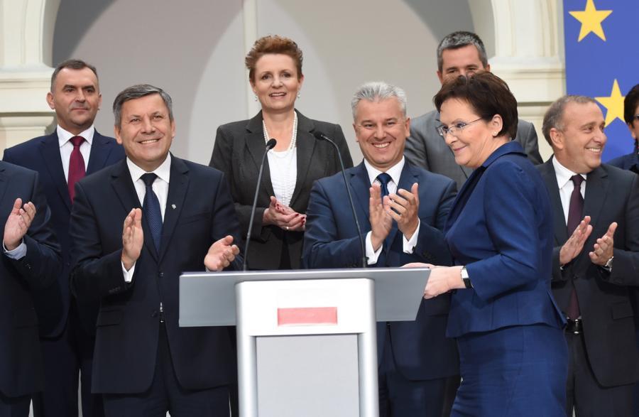 Desygnowana na premiera, marszałek Sejmu Ewa Kopacz podczas oficjalnego ogłoszenia składu swojego rządu