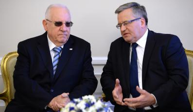 Reuwen Riwlin i Bronisław Komorowski