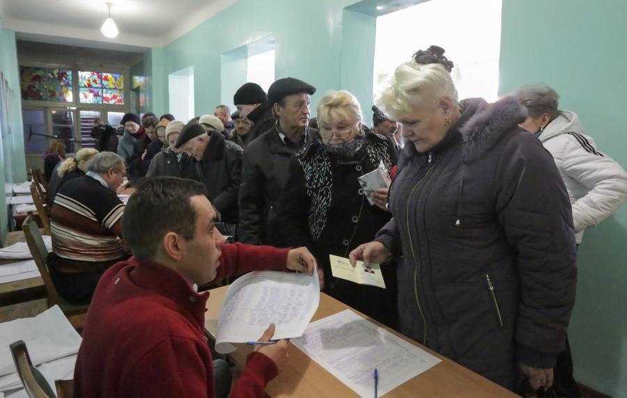 Wybory na wschodzie Ukrainy