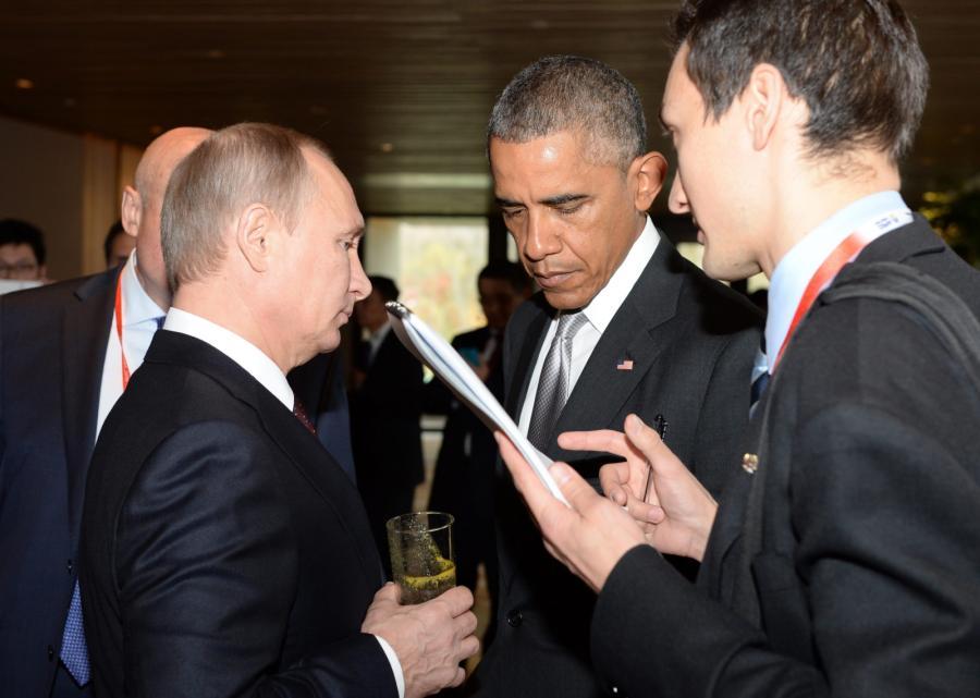 Władimir Putin i Barack Obama na szczycie APEC