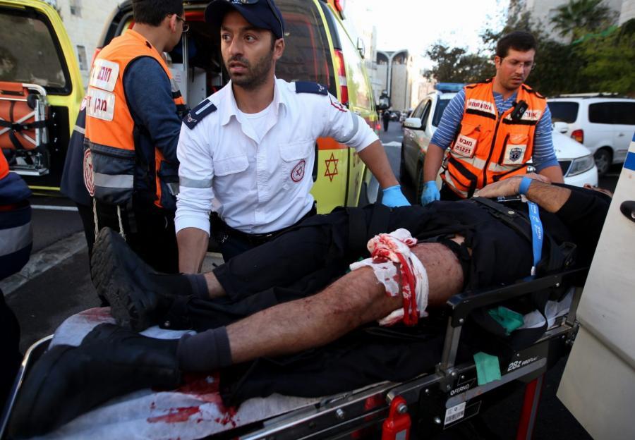 Akcja ratunkowa po zamachu w synagodze w Jerozolimie