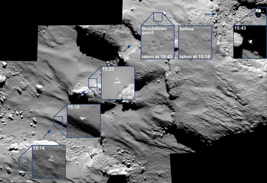 Lądownik Philae na komecie