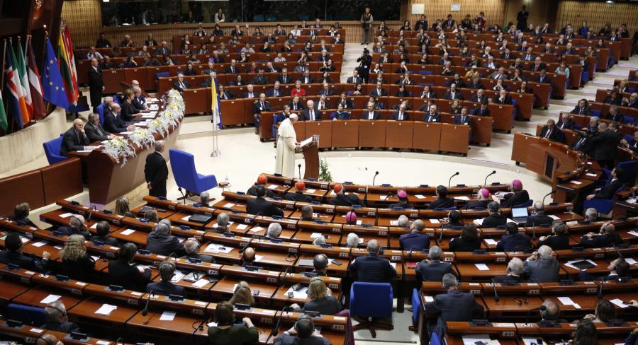 Papież Franciszek w Palamencie Europejskim