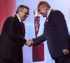 Prezydent Polski Bronisław Komorowski oraz prezydent organizacji Pracodawcy Rzeczypospolitej Polskiej Andrzej Malinowski