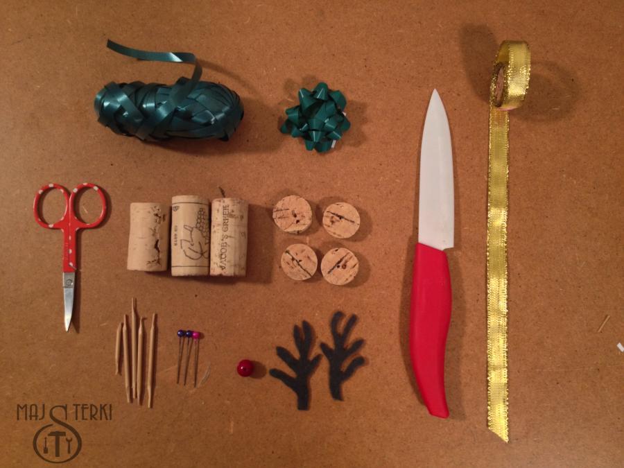 MAJSTERKI: DIY - renifer z korków po winie