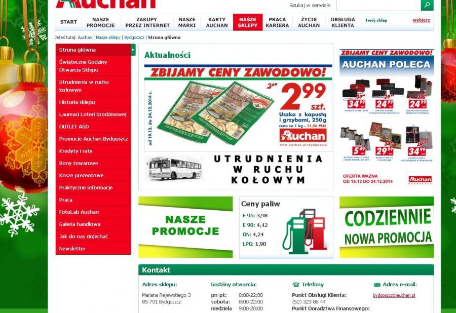 Strona internetowa sklepu