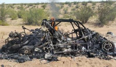 Spalone auto Adama Małysza