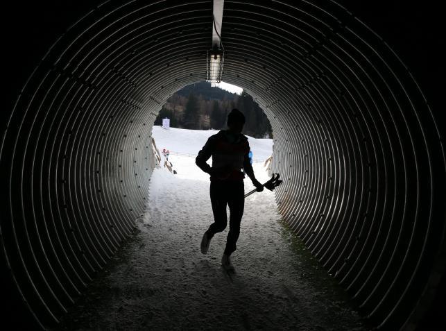 Justyna Kowalczyk podczas treningu we włoskim Val di Fiemme