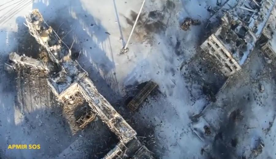 Lotnisko w Doniecku nakręcone z góry dronem