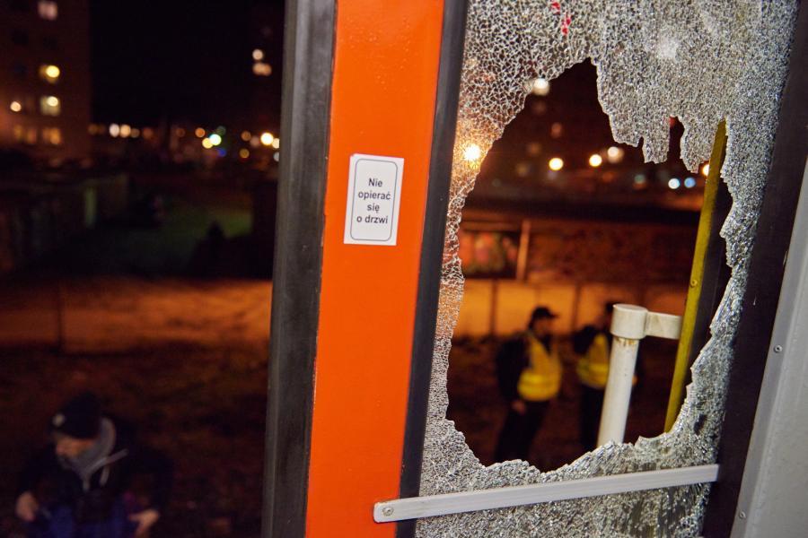 Kibole zaatakowali pociąg w Gdańsku