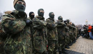 """Ochotnicy z ukraińskiego batalionu """"Azow"""""""