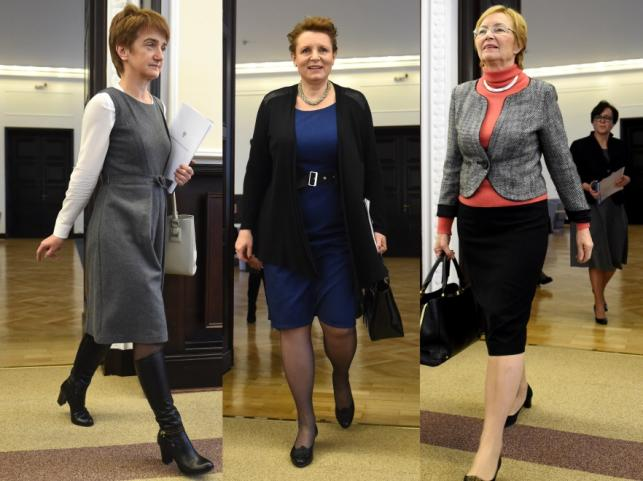 Maria Wasiak, Małgorzata Omilanowska i Lena Kolarska-Bobińska
