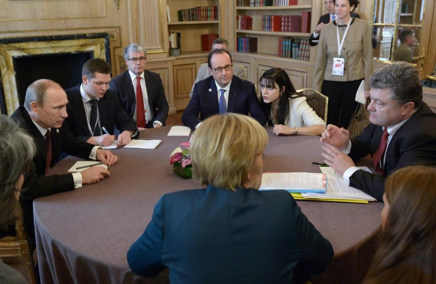 Rozmowy Władimira Putina i Petra Poroszenki, październik 2014