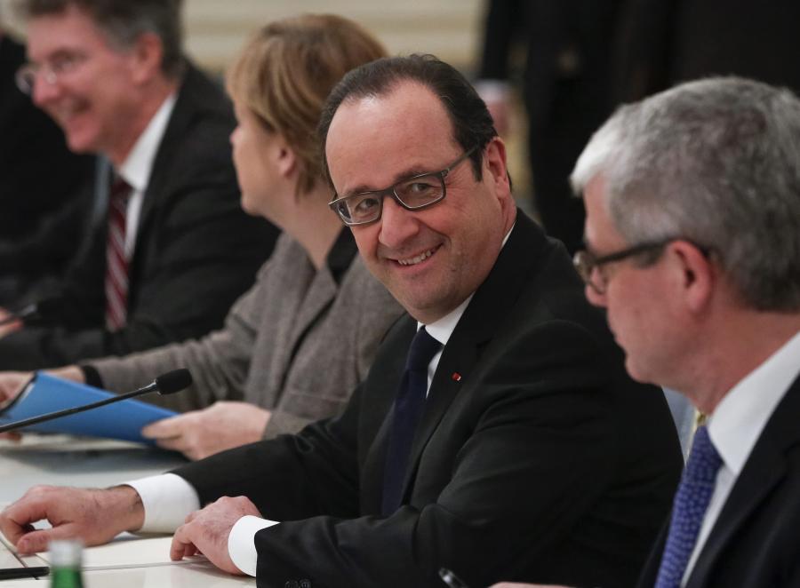 Francois Hollande i Angela Merkel