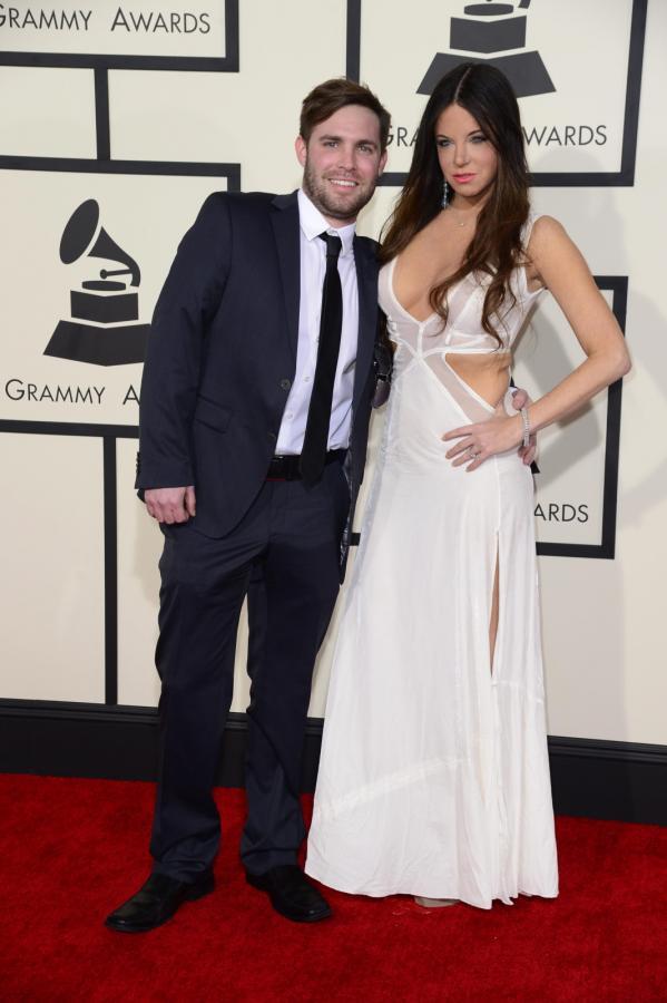 Najbardziej rozebrane gwiazdy na gali Grammy 2015: Wendy Starland (w towarzystwie Chrisa Clemence'a)