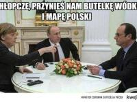 Putin i Merkel dzielą Polską, a Pieńkowska pomstuje na rolników. MEMY DNIA