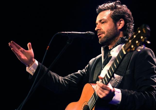 Adam Cohen podczas koncertu w Studiu Koncertowym Polskiego Radia im. Agnieszki Osieckiej w Warszawie