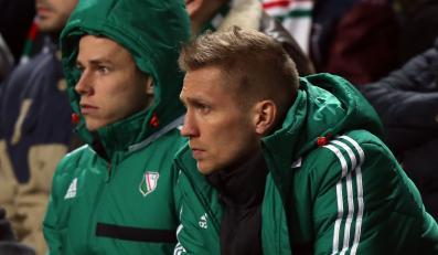 Ondrej Duda i Igor Lewczuk na meczu Ajax Amsterdam - Legia Warszawa