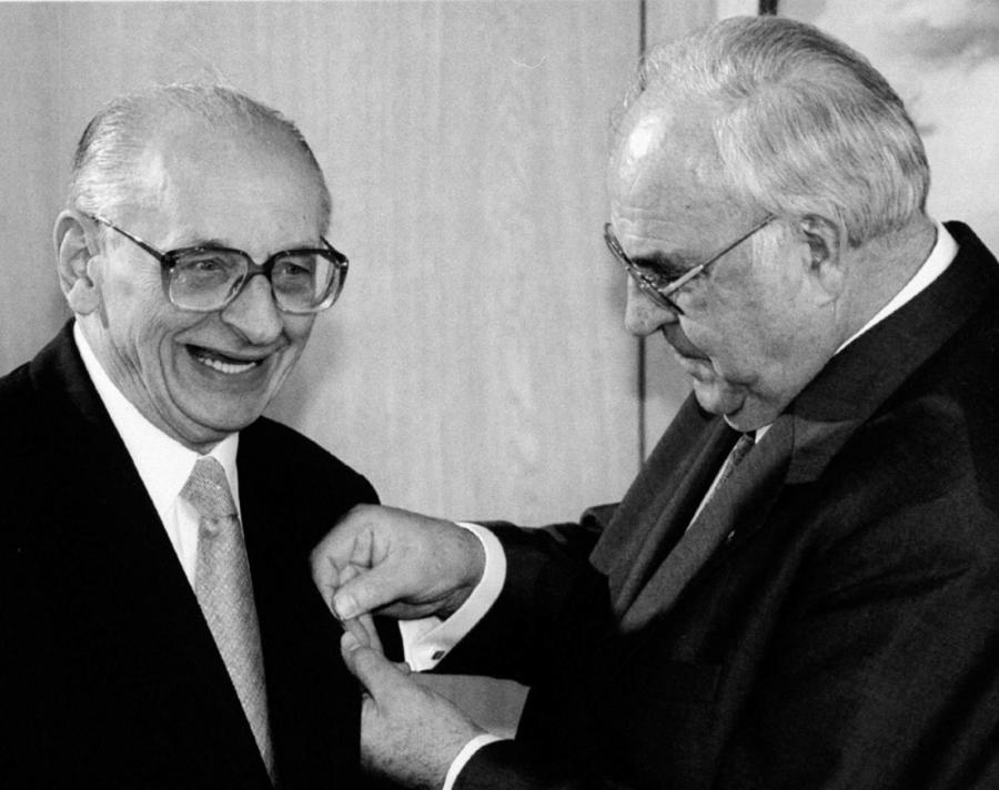 Władysław Bartoszewski i Helmut Kohl