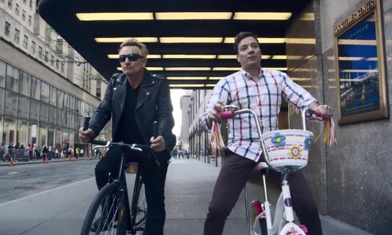 Bono i Jimmy Fallon na przejażdżce rowerowej