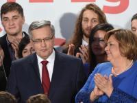 Trudna do ukrycia gorycz porażki... Wieczór wyborczy Bronisława Komorowskiego