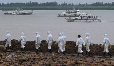 Akcja ratownicza na rzece Jangcy