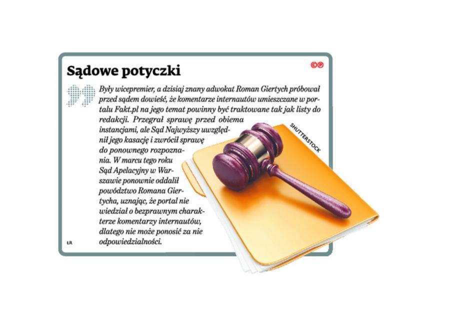 Sądowe potyczki Romana Giertycha
