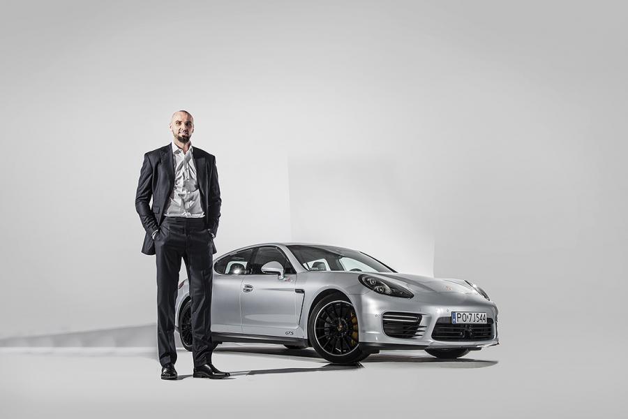 Marcin Gortat i porsche panamera GTS
