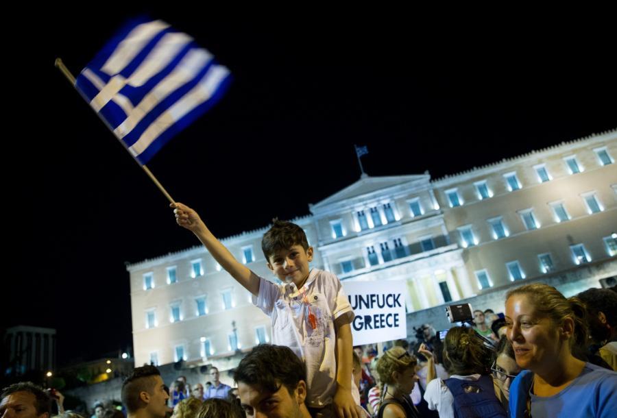 Manifestacja po referendum w Grecji