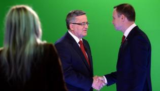 Bronisław Komorowski i Andrzej Duda w czasie debaty prezydenckiej