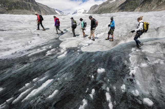 Aletsch, najdłuższy lodowiec w Europie