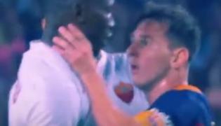 Lionel Messi dusił piłkarza AS Roma