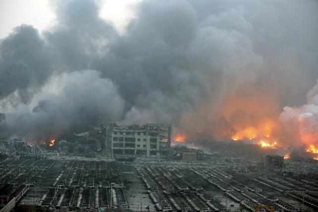 Eksplozja w chińskim Tiencin
