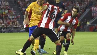 Leo Messi, Xabier Etxeita i Markel Susaeta