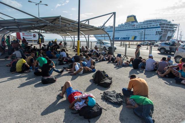 Imigranci na greckiej wyspie Kos