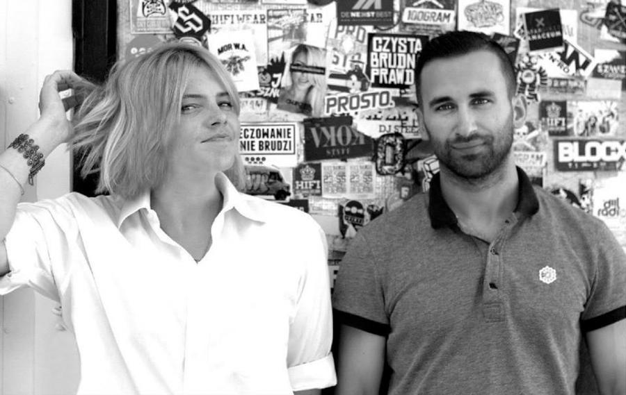 Ania Dąbrowska i hiphopowy producent Olek \
