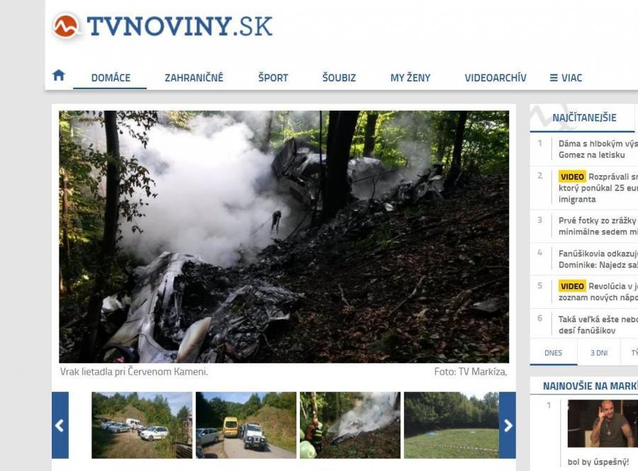 Zderzenie dwóch sportowych samolotów na Słowacji. Co najmniej 7 osób zabitych