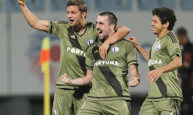 Liga Europy: Legia wygrała w Kijowie z Zorią i jest blisko awansu