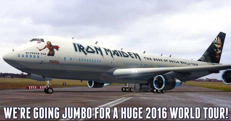 Oto odpowiednio przemalowany samolot Iron Maiden