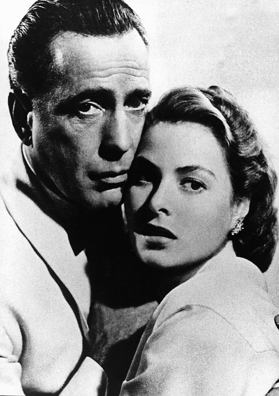 "Ingrid Bergman i Humphrey Bogart w ""Casablance"""