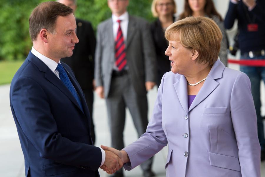 Prezydent Andrzej Duda i kanclerz Angela Merkel