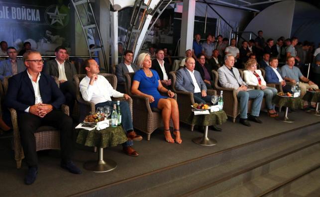Putin i Ragozina na turnieju sambo w Soczi