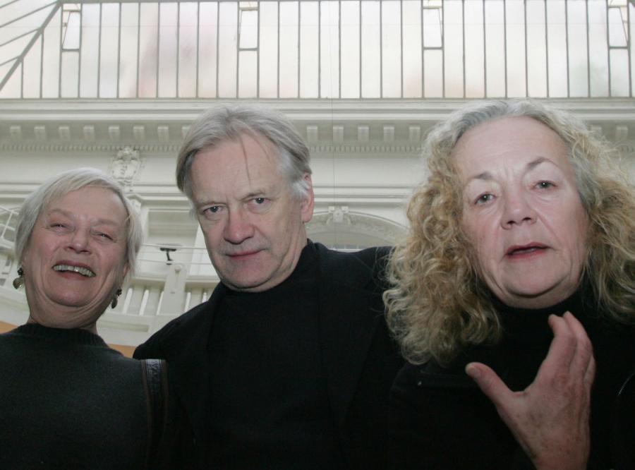 Aktorzy Comedie Francaise: Catherine Hiegel, Catherine Ferran i Andrzej Seweryn