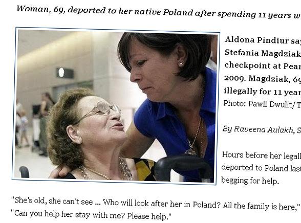 Wyrzucili niewidomą Polkę z Kanady