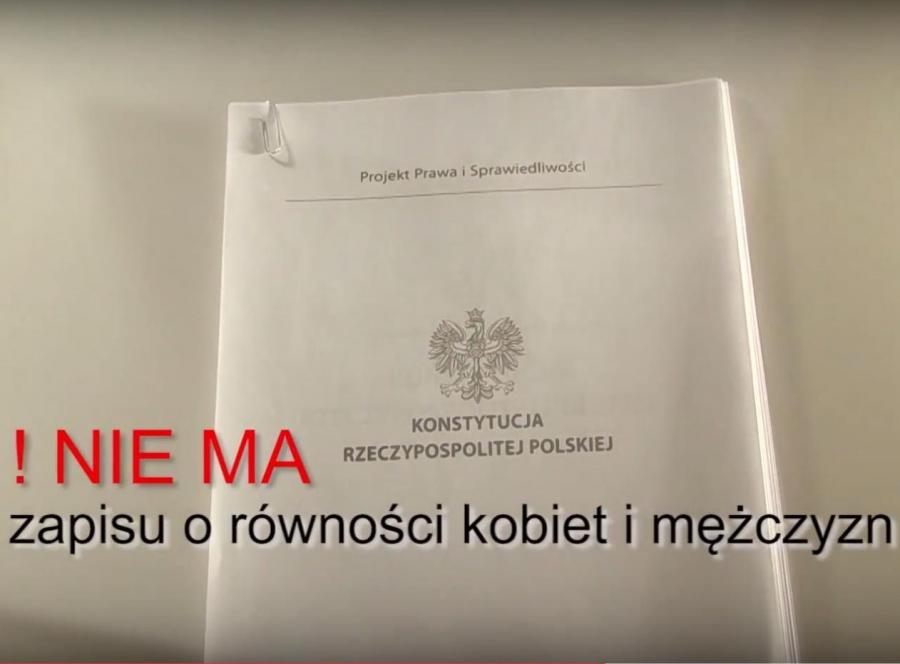 Konstytucja PiS w spocie PO